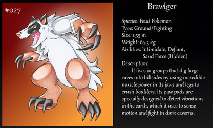 #027 Brawlger Fakemon by Angel-Moonlightwolf