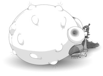 Pregnant and hungry Mei by Marrazan