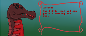 SCP-682 talk sprite by MadesenTheRaccoon