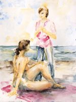 Girlfriends At The Beach by BarbaraPommerenke