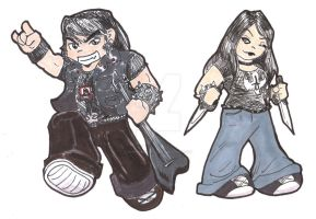 Brutal Chibis by GoschArts