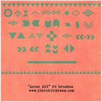 Aztec Pattern DIY PS brushes by iCatchUrDream