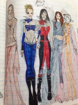 Star Wars characters Ep 9 2005 designs  by Selinelle