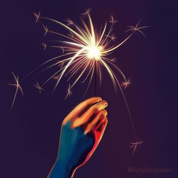 Day 20 - Hand Study Sparklers by sluggieart