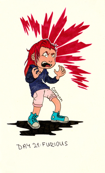 Day 21 - Furious by klice-chan