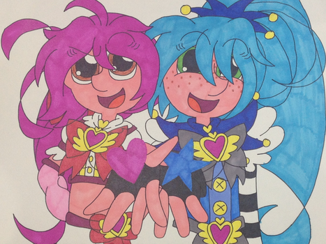 'Prism and Rascal, we're Happy Go Lucky Precure!' by puresthope125