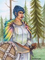 Sarah in New armor by Marker-Guru