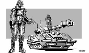 Tank Commander by MarkCDudley