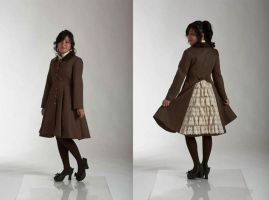 Lace Bustle Coat by monarch-lolita