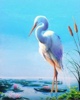 Egret by SoooThisIsArt----Wow