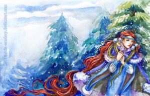 Snow-maiden by Maria-Sandary