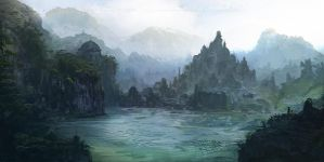 Temple Lagoon by ourlak