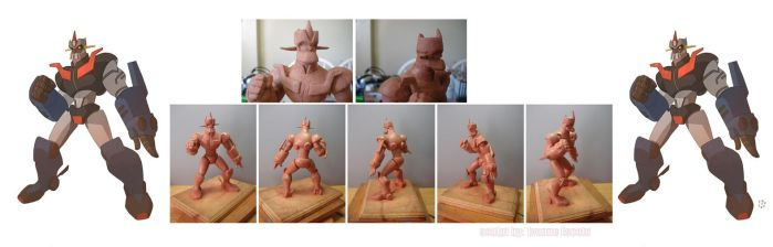 Mazinger Z sculpt by cheeks-74