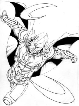 Moon Knight - 2010 sketchbook by SpiderGuile