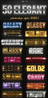 50 Elegant Photoshop Styles Bundle by GraphicAssets