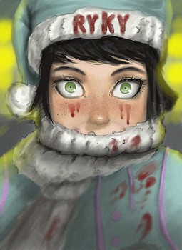 COLORING  CHRISTMAS CONTEST by Ryky (Red Christma) by Umanig