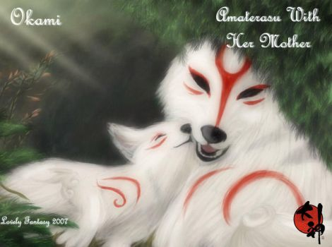 Amaterasu with her mother by lovelyfantasy