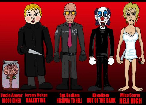 Horror Line Up:  Various by Lordwormm