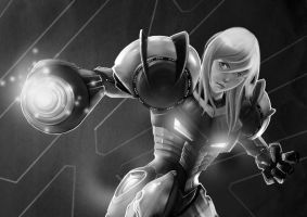 SAMUS SKETCH by BramastaAji