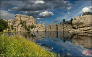 Sylvan Lake Reflection by MichaelAtman