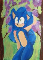 Sonic Acrylic Painting by Soshadilver