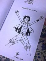 Monkey D Luffy by vedabitsaha