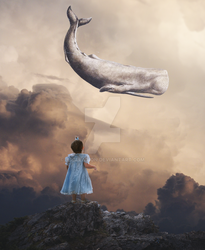 Girl and Whale by NSCreation