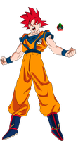 Goku ssj God New Movie Style by daimaoha5a4