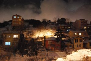 Burning in the cold towny by llimilea
