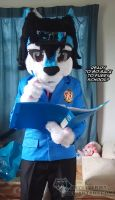 Fursuit Krys-Wolf in Back to School by krystlekmy