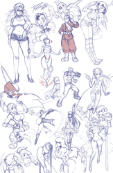 A compilation of random sketches that I never... by Robaato
