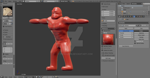 Sculpting Kong WIP by Thorion88