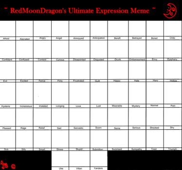 RMD Ultimate Expression Meme by RedMoonDragon