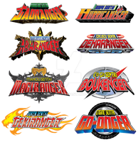 Disney Era  Sentai Logos by TRice01