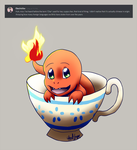 Cuppa Charmander. by GhostLiger