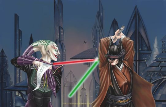 Darth Joker VS Jedi Batman - Request by GreenGosselin