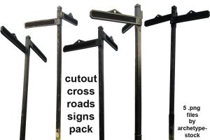 Cutout Crossroads Signs Pack by archetype-stock