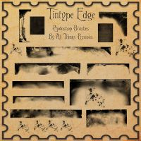 Tintype Edges Photoshop Brushes by AllThingsPrecious