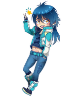 Contest Prize: Chibi Aoba by HellAwaitsArts