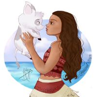 Moana and Pua by pastelshark1103