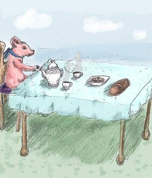 Pig Tea Party by Missy-fae