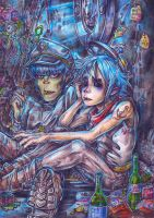 Do you really think so?- 2D and Murdoc [Gorillaz] by RoboCat-RC