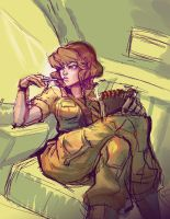 quickie april o'neil by mishinsilo