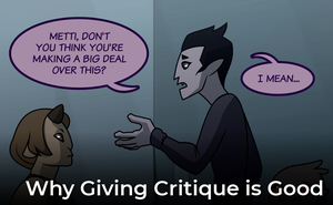 The Art of Critique: Why Giving Critique is Good by L-James