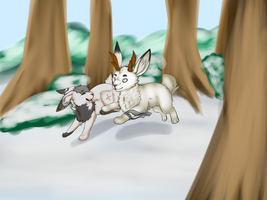 Rabbit Chase by SolarXolverite