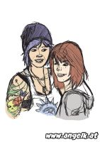 Life is Strange: Chloe and Max by slicedguitars