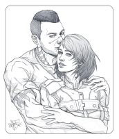 Comm - Shepard and Vega by Zenopic