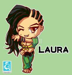 Street Fighter V Laura [Maplestory style] by RedCaliburn