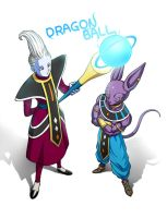 Beerus Whis by oume12