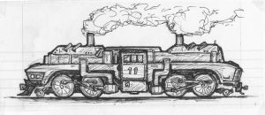 2-4-4-2 Fantasy Steam Engine by clearwater-art